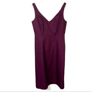 J.Crew Cotton Cady Purple Sleeveless Dress 6 B-90